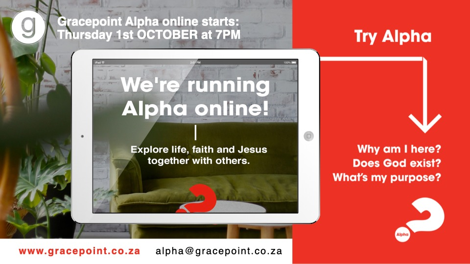 THE ALPHA COURSE 01 OCTOBER